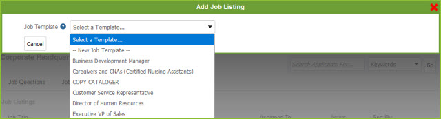 home create a job listing